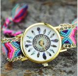모직, DIY 여성 석영 시계가 새롭고, 빠른 판매에 의하여, Ebay 의 기털, 기털 팔찌, 뜨개질을 했다
