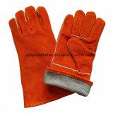 Сваривая перчатки мягкого Cowhide работы кожаный для защищая руки