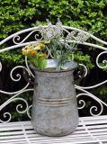 정원 장식을%s 철 화분의 소형