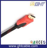 1 м кабель HDMI высокого качества с помощью нейлоновой оплетки, 1,4 В (D001A)