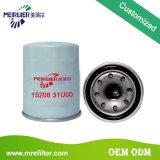 Filtro de petróleo auto del coche de las piezas del motor 15208-31u00