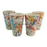 tazza di caffè di bambù promozionale della fibra di sanità variopinta 400ml