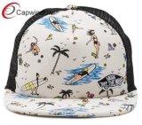 Material de estilo do Havaí Snapback Caminhoneiro Hat com logotipos personalizados