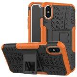 iPhone Xのための耐震性の完全なカバーPritective PC+TPUの電話箱