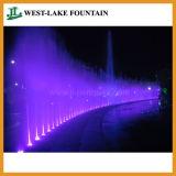 Piscina oculta fuente seca con iluminación LED de colores y música.