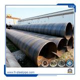 Большой наружный диаметр стальную трубу с материалом X56 X70, спираль сварные трубы используются в нефтяной и газовой промышленности