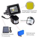 Sensor de movimiento de 10W Foco Solar impermeable al aire libre Spotlight Farol paisaje de césped de la iluminación de emergencia