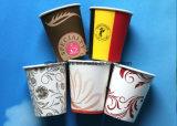 7oz 8 унции 12oz 16oz бумагу чашка для горячего кофе и чай с крышкой