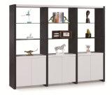 Étagère moderne populaire de meuble d'archivage de bibliothèque de portes de la mélamine 3