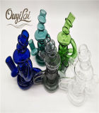 Cinco cores Mini vidro Pyrex plataforma petrolífera do tubo de água do tubo de vidro de DAB tubo fumar
