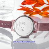 Ineinander greifen-Legierungs-Frauen-Quarz Wist Uhr, Soem-Service Uhren der Dame (WY-17025A)