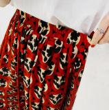 Высокое качество цветов женщин широкие брюки ног