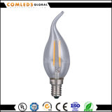 luz del filamento de la vela de 2With4With6W 100lm/W LED con EMC&RoHS