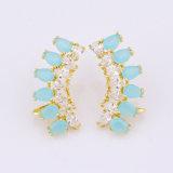 Ohrring spezieller des Entwurfs-Frauen-Ohrring-Kristallgold18k