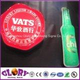 Напольная круглая индикация акриловое СИД пива рекламируя светлую коробку