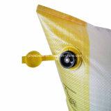 Aparato para inflar con aire inflable tejido PP del bolso del balastro de madera del envase