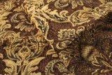 Tissu de textile de jacquard de Brown avec l'enduit (FTH31180A)