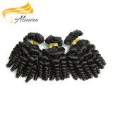 Человеческие волосы Remy девственницы сбывания фабрики Alimina совершенные черные