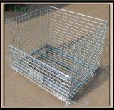 Metalldraht-Ineinander greifen-Rahmen-Draht-Behälter Mjy-Spc01