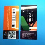 QR code à barres imprimé en PVC d'adhésion de la carte de fidélité