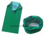 Fabrik-Erzeugnis-kundenspezifisches Firmenzeichen-Druck-Grün-Polyester-magische Röhrenstutzen-Gamasche