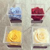 Cadre de empaquetage personnalisé de fleur de plexiglass de Rose de l'acrylique clair 1