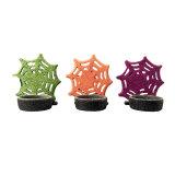 Forma de Floco de Neve Christams suporte para velas de cerâmica, Decoração