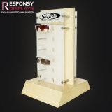 Acrílico Contador de metal personalizados de madera de diseño atractivo estante pantalla gafas de sol
