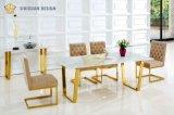 LuxuxhauptinnenEdelstahl-weißes Marmorspitzenspeisetisch-Set