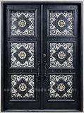 製造業者の中国の直接価格の錬鉄の前ドア外部エントリ金属のドア(EI-024)