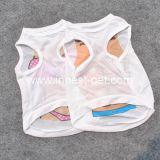 Camiseta barata del perro de la ropa del animal doméstico de Saxy del poliester de la fuente del perrito