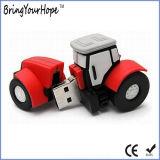 Подгонянный привод вспышки USB формы трактора в материале PVC (XH-USB-177)