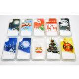 iPhone8のための新しい到着のクリスマスの雪の流砂TPUの携帯電話の箱