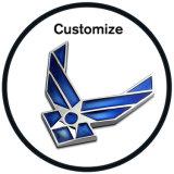 Distintivi su ordinazione dell'emblema di marchio del metallo dei vestiti
