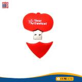バレンタインデーの最もよいギフトの愛情のある中心の形USBの棒のフラッシュ駆動機構の結婚式のフラッシュ駆動機構はUSBを支持する