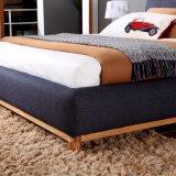 Base lavable de la tela del marco moderno de madera sólida para el hotel Fb3076