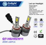 Lâmpada poderosa barata da cabeça do carro do diodo emissor de luz 4300K/6004K da ESPIGA de Cnlight Q7-H8 H9 H11