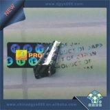 Escritura de la etiqueta olográfica evidente del pisón del sello de la garantía