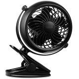 Encajar Ventilador de mesa de USB o pilas 4 pilas AA requiere un ajuste del ventilador de mesa Mini cochecito de bebé Dormitorio Office Hogar y al aire libre utilizando