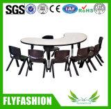 As crianças do estudo de mobiliário mesa e cadeiras de plástico para crianças (KF-01)