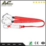 harness de trabajo modificado para requisitos particulares el 1.8m de la cuerda de la seguridad de construcción con las correas dos