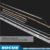 Tira de LEDS de perfiles de aluminio, perfil de aluminio de extrusión de LED, LED LED de extrusión de aluminio perfil de luz LED de canal