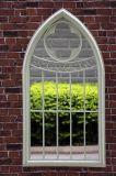型のホーム装飾のためのガラス鉄の庭ミラー