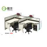 木のオフィス用家具アルミニウムワークステーション机Yf-G0802