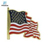 De Speld van de Revers van de Vlag van de Douane van de Verkoop van de fabriek direct