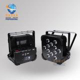 Una luz plana ULTRAVIOLETA más barata de la IGUALDAD de la radio LED de Rasha 6in1 Rgbaw de la alta calidad del precio para la iluminación de la etapa del acontecimiento DMX del banquete de boda