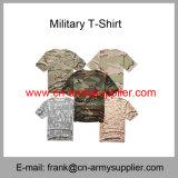 Bon marché de gros de la Chine de camouflage militaire tactique de la police de l'Armée de coton T-Shirt