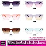 7801 Unibody unissexo estilo retro Shiled-Shaped óculos de sol