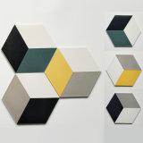 200X230X115mm 정규 모양 6각형 세라믹 사기그릇은 섞었다 3개의 색깔 벽과 지면 훈장 Tilefor 거실 (SM2331)를