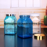 De vierkante Kruik van het Glas met Tin GLB